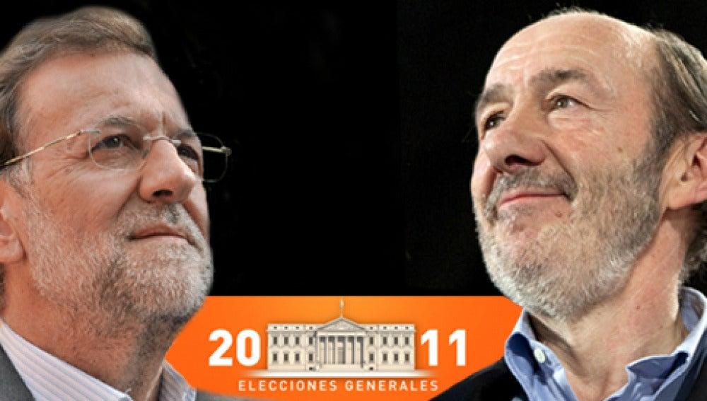 Debate electoral entre Rajoy y Rubalcaba