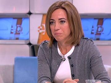 La ministra de Defensa, Carmé Chacón, en Espejo Público