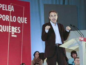 José Luis Rodríguez Zapatero, en Lugo