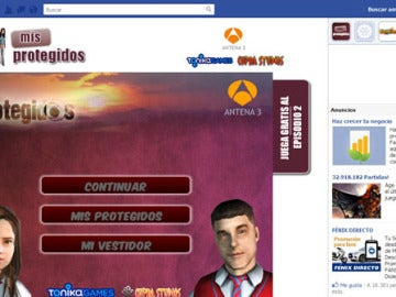 Aplicación 'Mis Protegidos' para facebook.