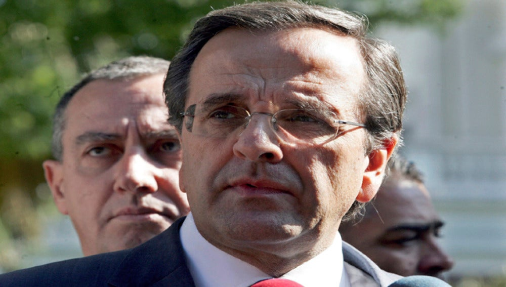 El líder del partido heleno Nueva Democracia, Antonis Samarás.