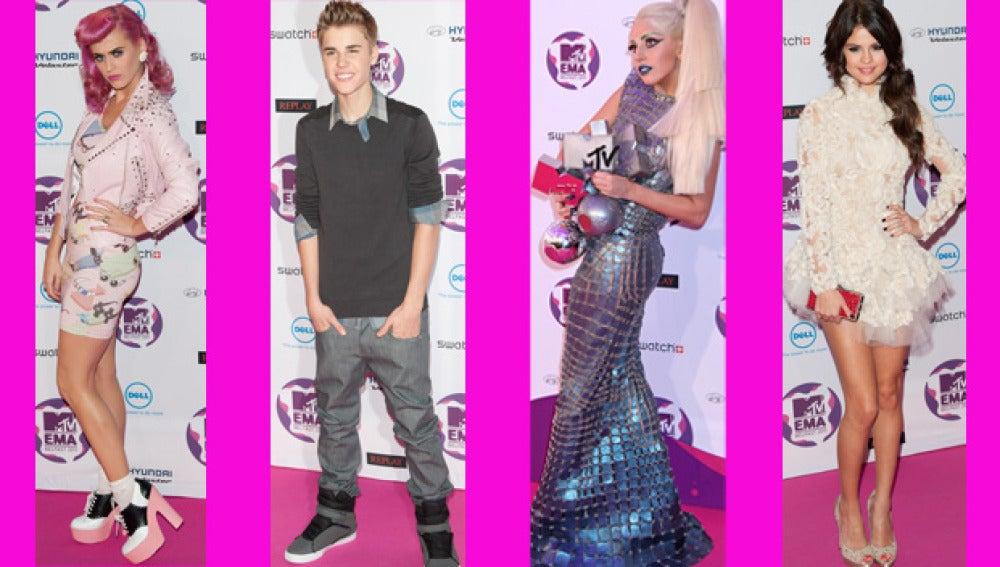 Las celebrities lo dieron todo en los Premios MTV Europa