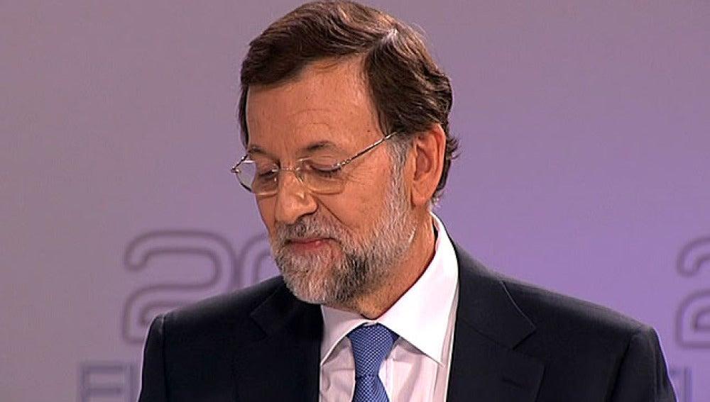 Rajoy, durante el debate electoral