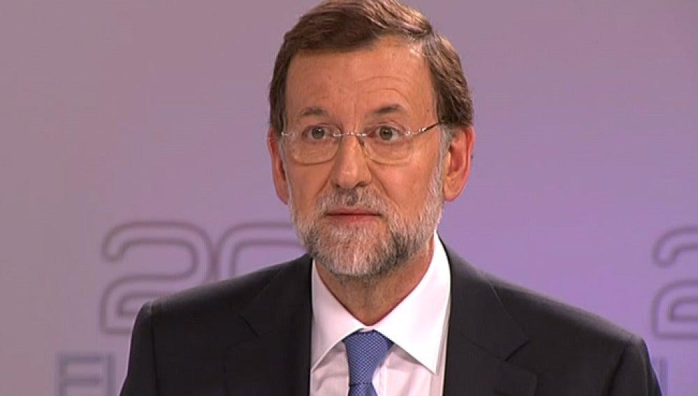 Rajoy durante el debate electoral.
