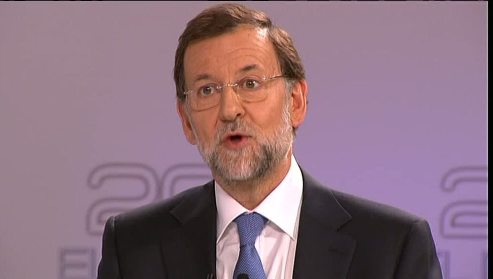 Rajoy en un momento del debate electoral