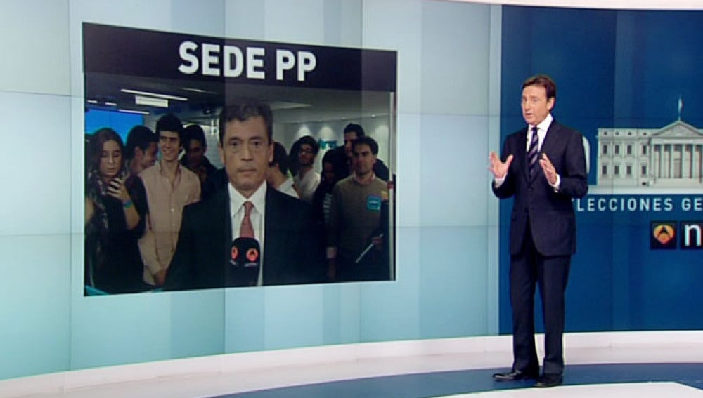 Conexión con la sede del Partido Popular