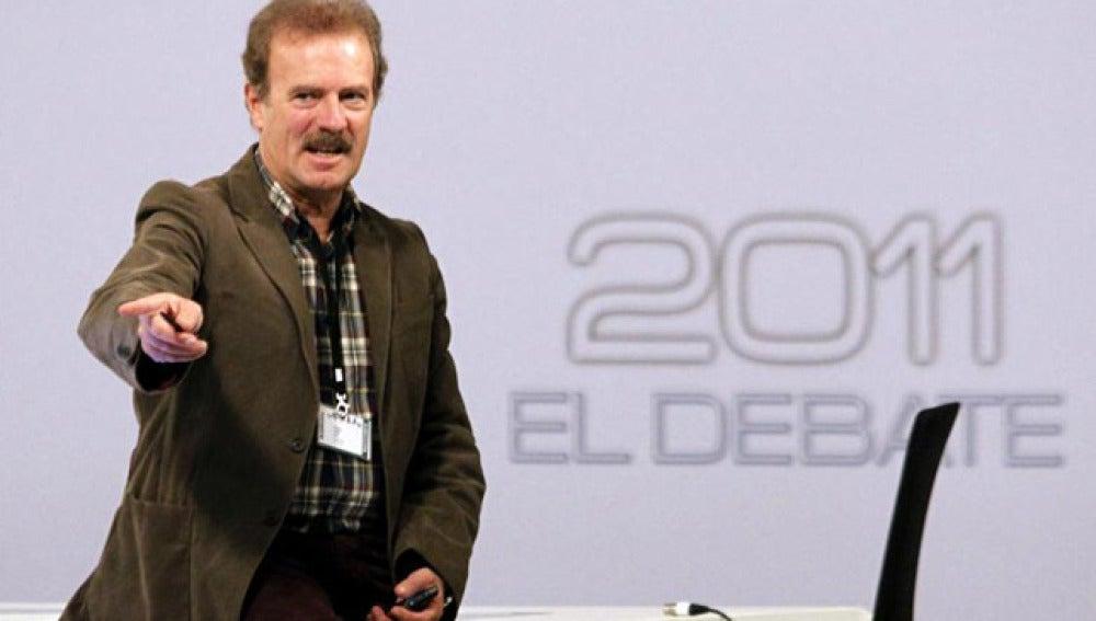 Manuel Campo Vidal antes del debate