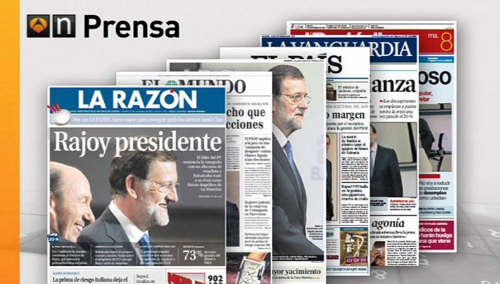 Los periódicos dan como ganador a Rajoy