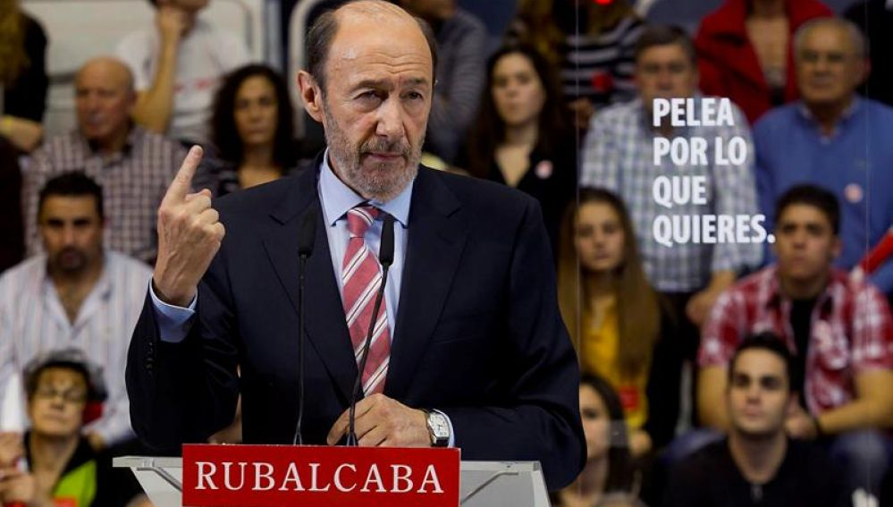 Acto de Rubalcaba en Burgos