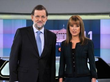Mariano Rajoy junto a Gloria Lomana