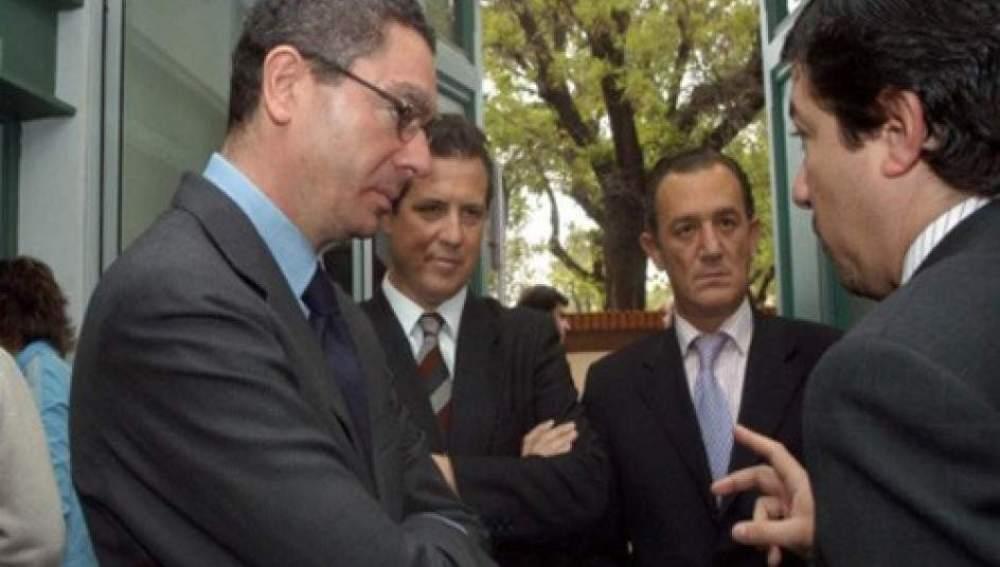 Gallardón junto a Fernando Autrán en una foto de archivo