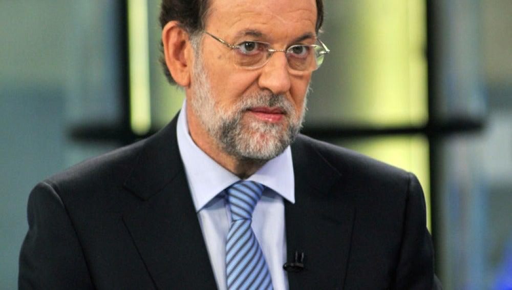 Mariano Rajoy durante la entrevista