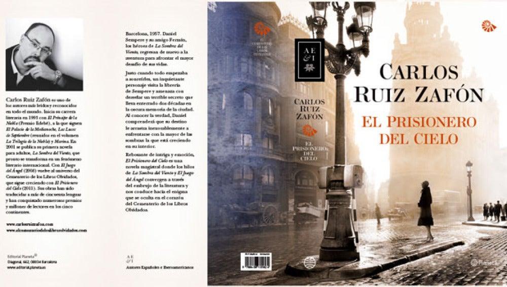 Portada de 'El prisionero del Cielo' de Carlos Ruiz Zafón