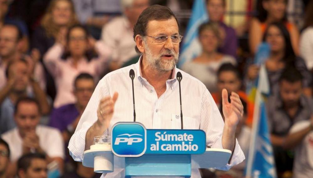 Mariano Rajoy, en un acto en Las Palmas de Gran Canaria