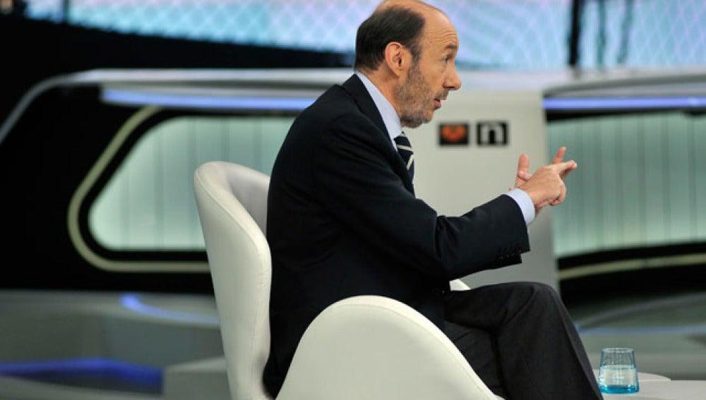 Rubalcaba durante la entrevista