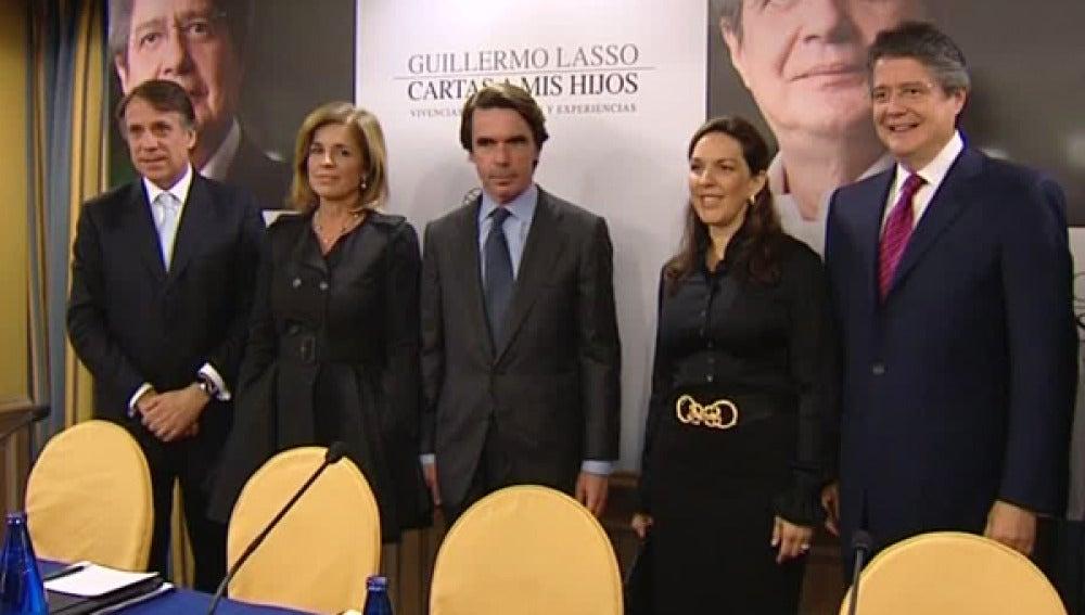 Guillermo Lasso ha presentado el libro 'Cartas a mis hijos'.