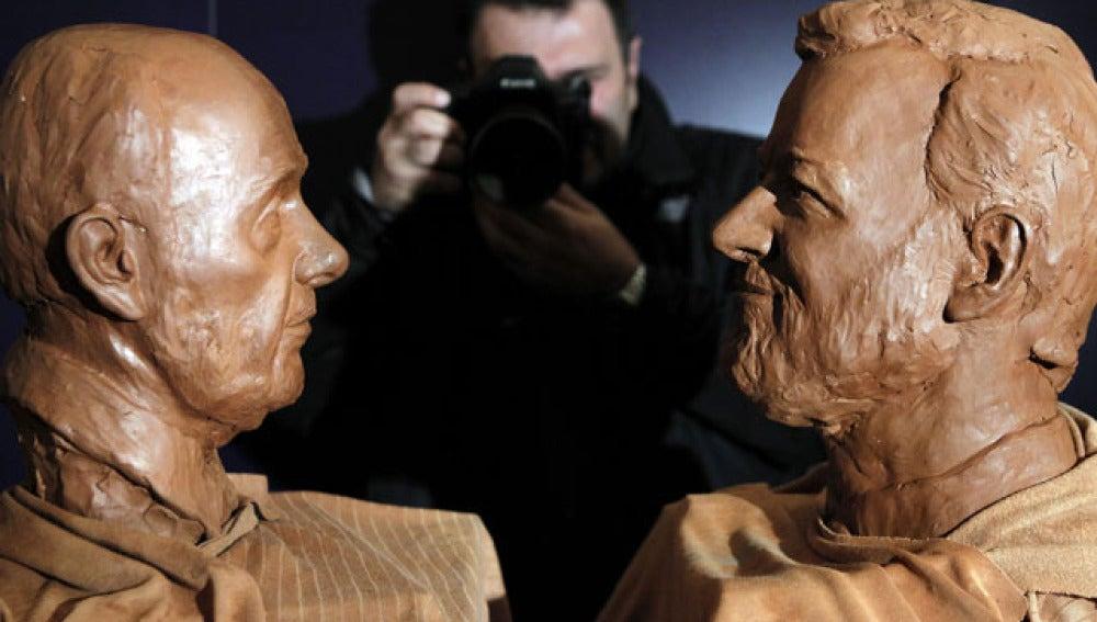 Bustos de Rajoy y Rubalcaba