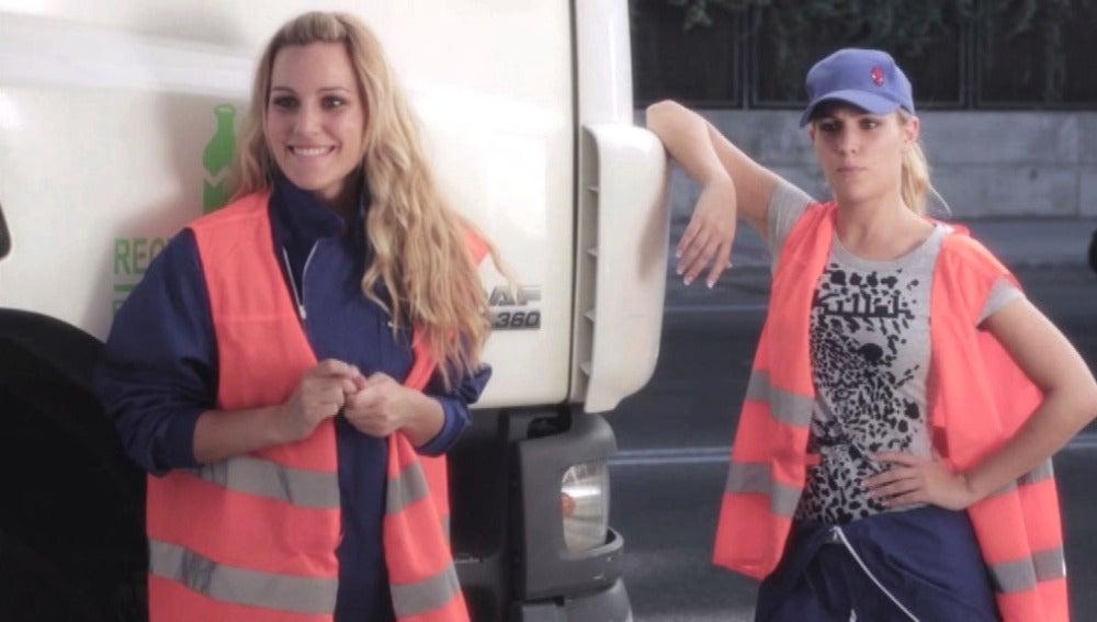 Edurne se multiplica para una campaña de reciclaje