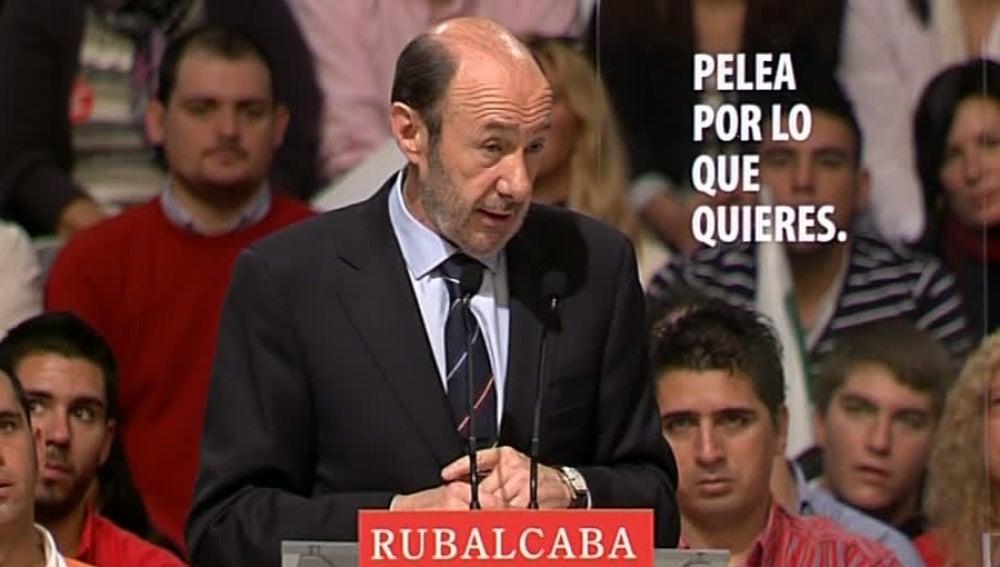 Alfredo Pérez Rubalcaba en Huelva