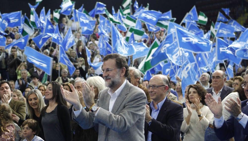Mariano Rajoy en un mitin del Partido Popular
