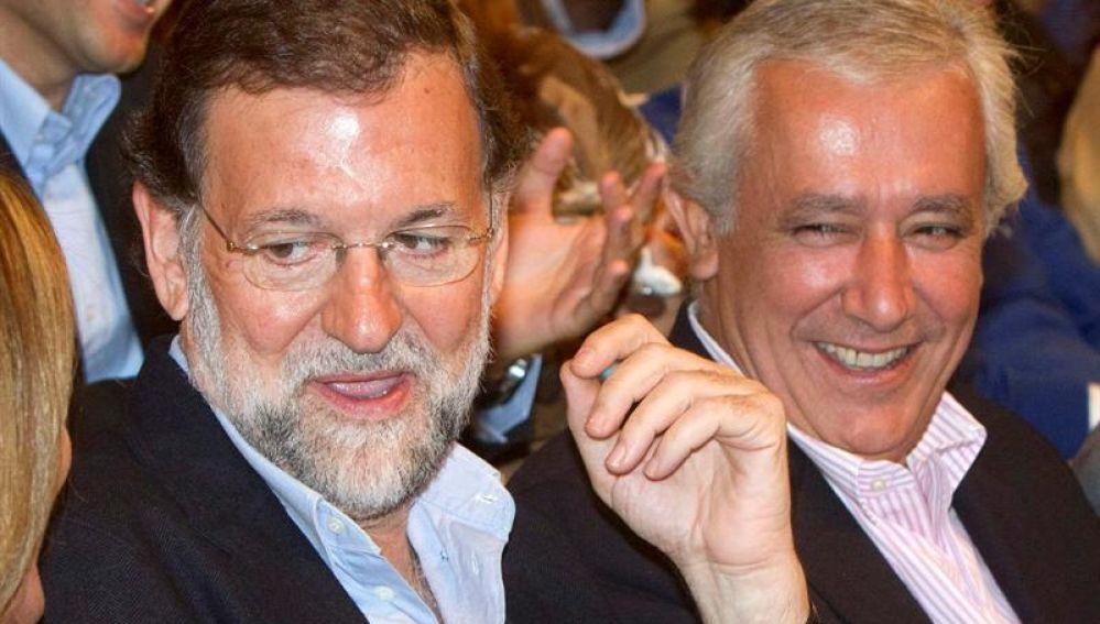 El líder del PP, Mariano Rajoy, en Huelva