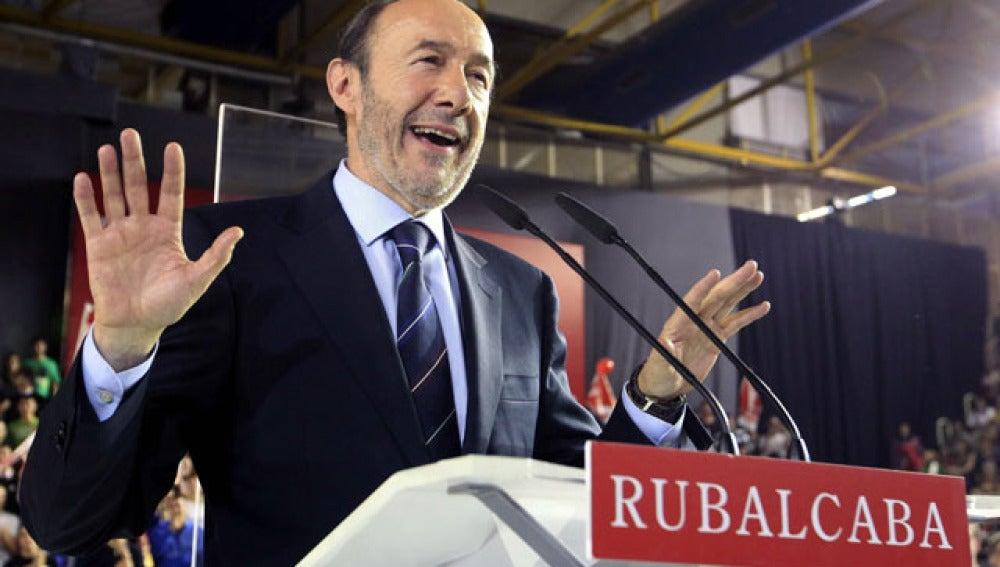 Rubalcaba, en el cierre de campaña