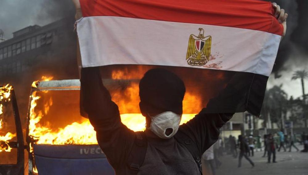 Imágenes de los enfrentamientos en la Plaza Tahrir