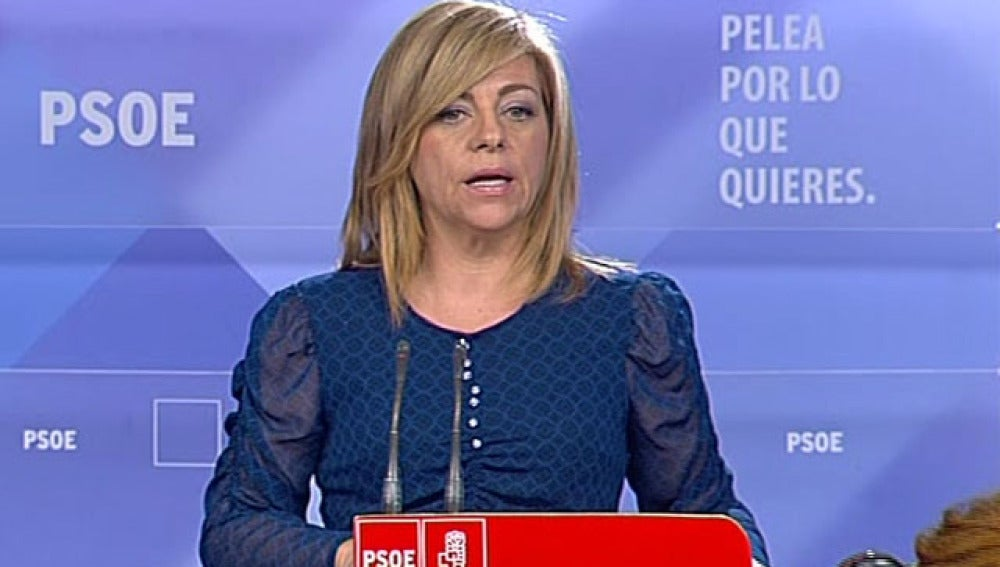 Elena Valenciano valora el primer sondeo de los resultados electorales