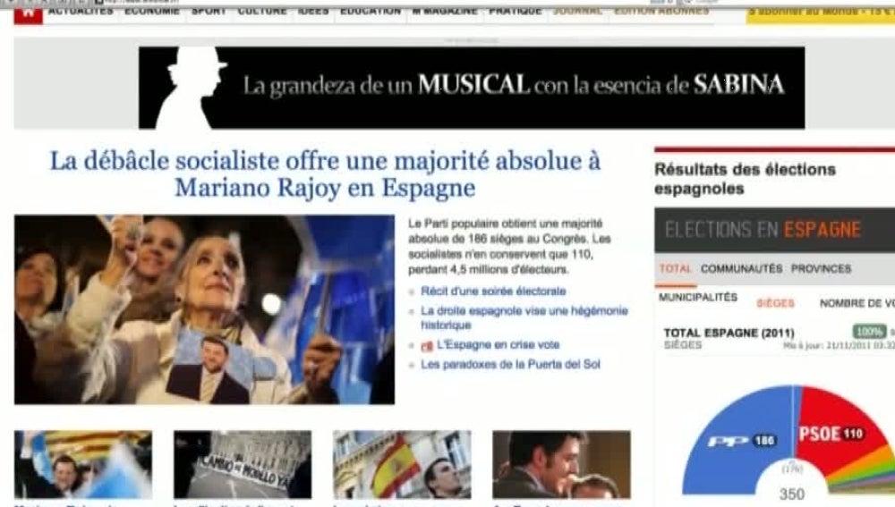 Las portadas de los periódicos internacionales tras las victoria del PP