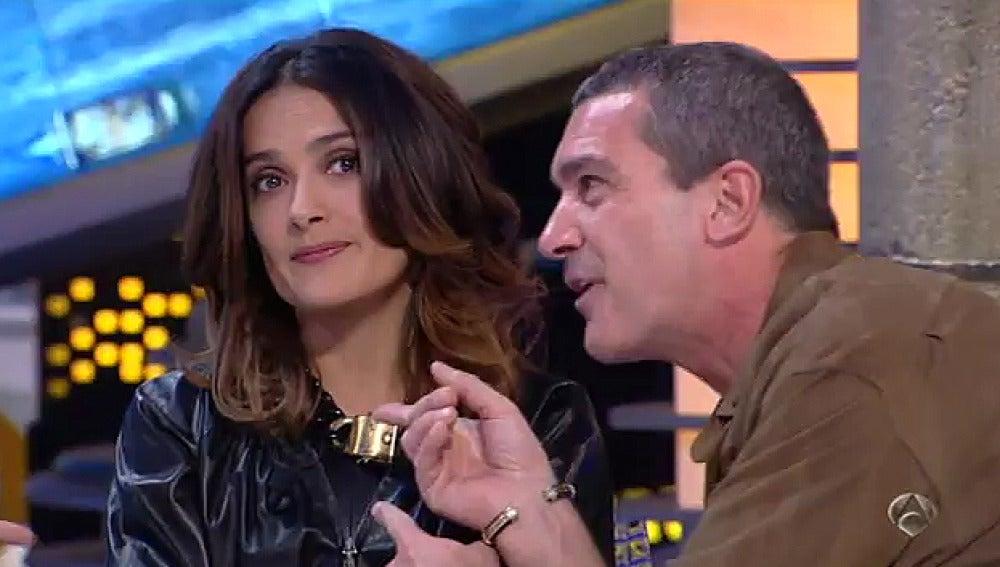 Antonio Banderas y Salma Hayek en El Hormiguero