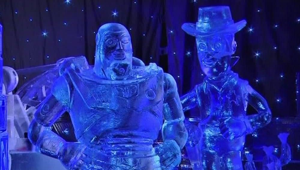 Festival de esculturas de hielo en Bélgica