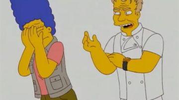 Gordon Ramsey y Marge Simpson