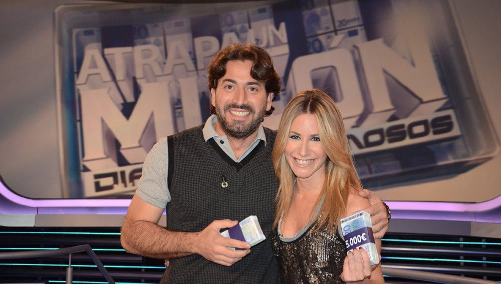 Ainhoa Arbizu y Antonio Garrido en Atrapa un millón