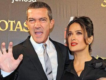 Antonio Banderas y Salma Hayek