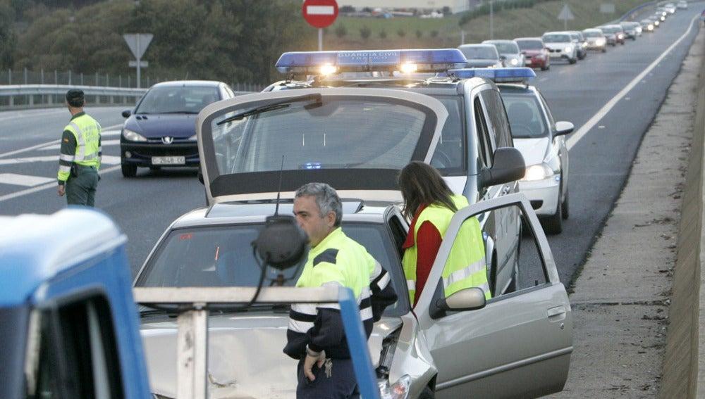 Accidente en una carretera española
