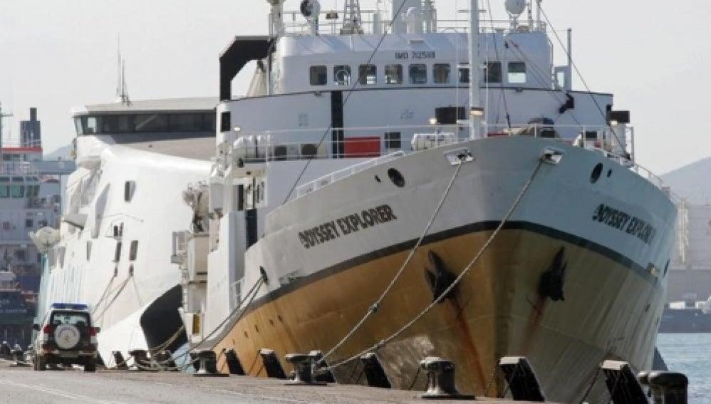 El barco cazatesoros Odyssey