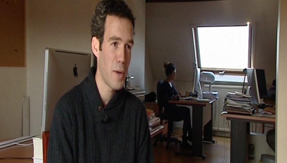 Gonzalo trabaja como coordinador de web de cine en Bruselas