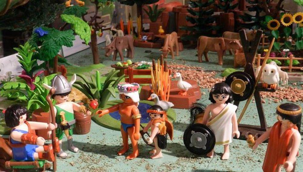 Recrean con muñecos de playmobil la guerra de Troya