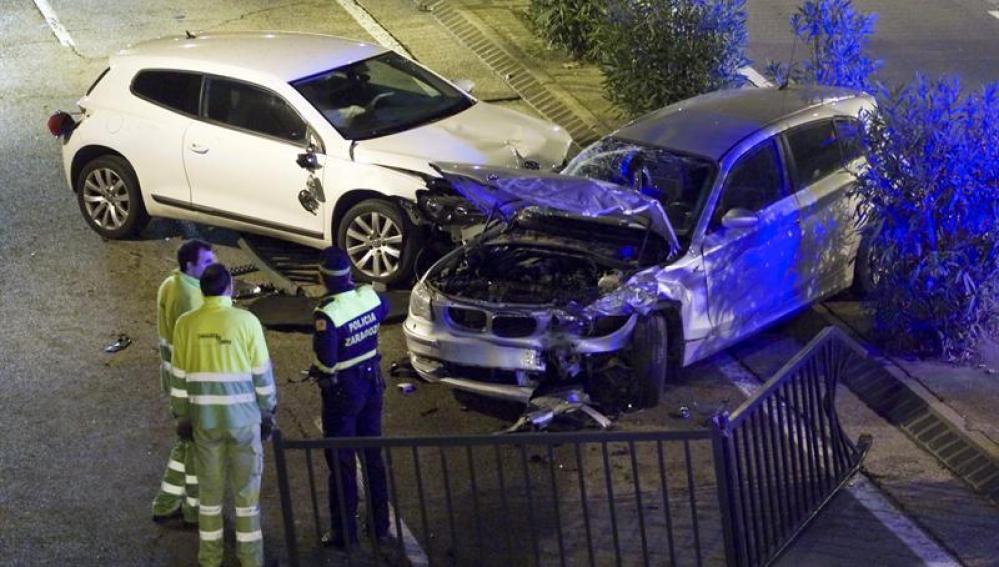 Una persona ha resultado herida como consecuencia de un accidente de tráfico que ha tenido lugar en el centro de Zaragoza