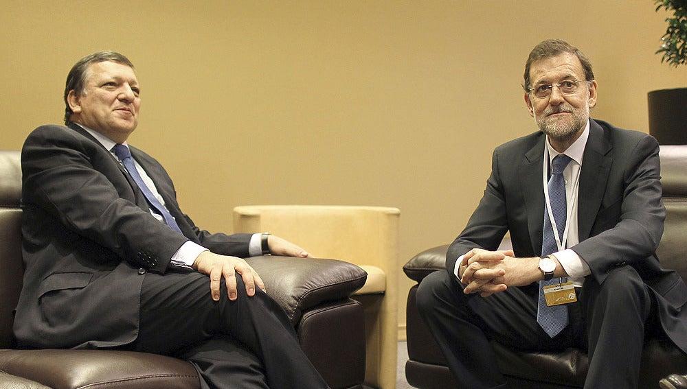 Mariano Rajoy con Durao Barroso