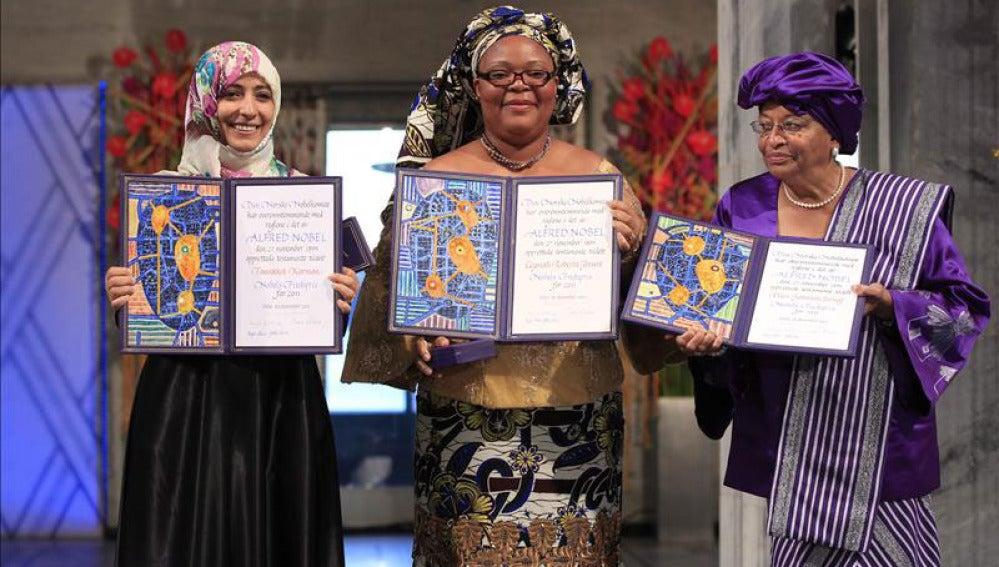 Las tres Premio Nobel de la Paz