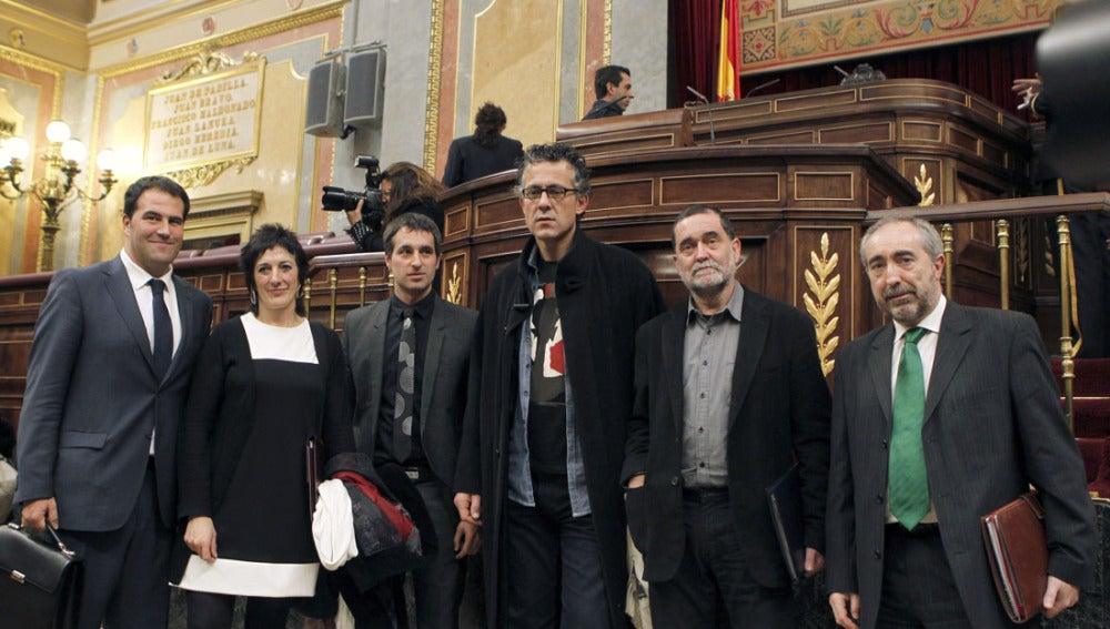 Los diputados de Amaiur en el Congreso
