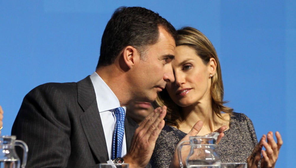 Don Felipe y doña Letizia en un acto de la Fundación Príncipe de Girona