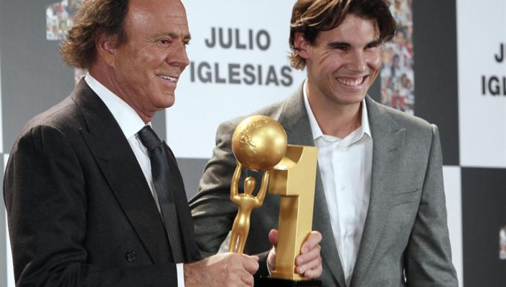 Julio Iglesias y Rafa Nadal
