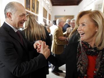 Enrique Crespo celebra el segundo premio de la Lotería de Navidad