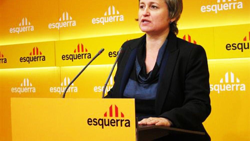 Anna Simó, portavoz de ERC en el Parlamento.