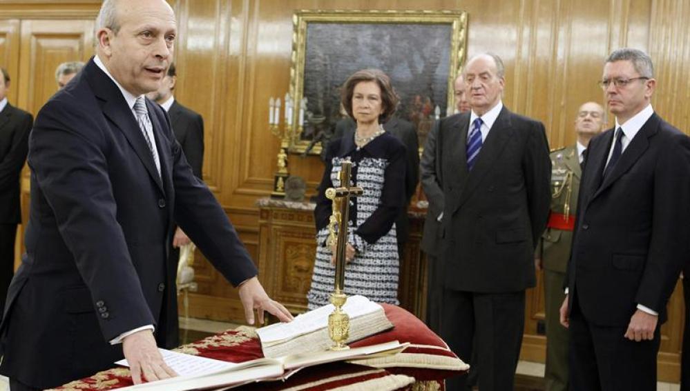 José Ignacio Wert en la toma de posesión de su cargo como ministro de Educación, Cultura y Deporte.