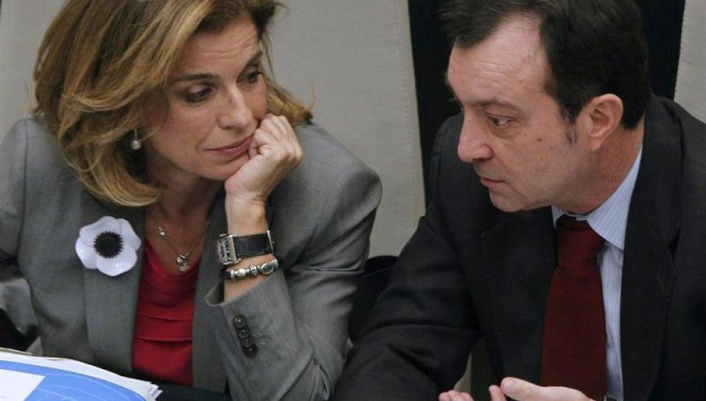 Ana Botella con el vicelcalde, Manuel Cobo