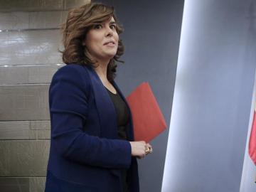 La vicepresidenta primera, Soraya Sáenz de Santamaría