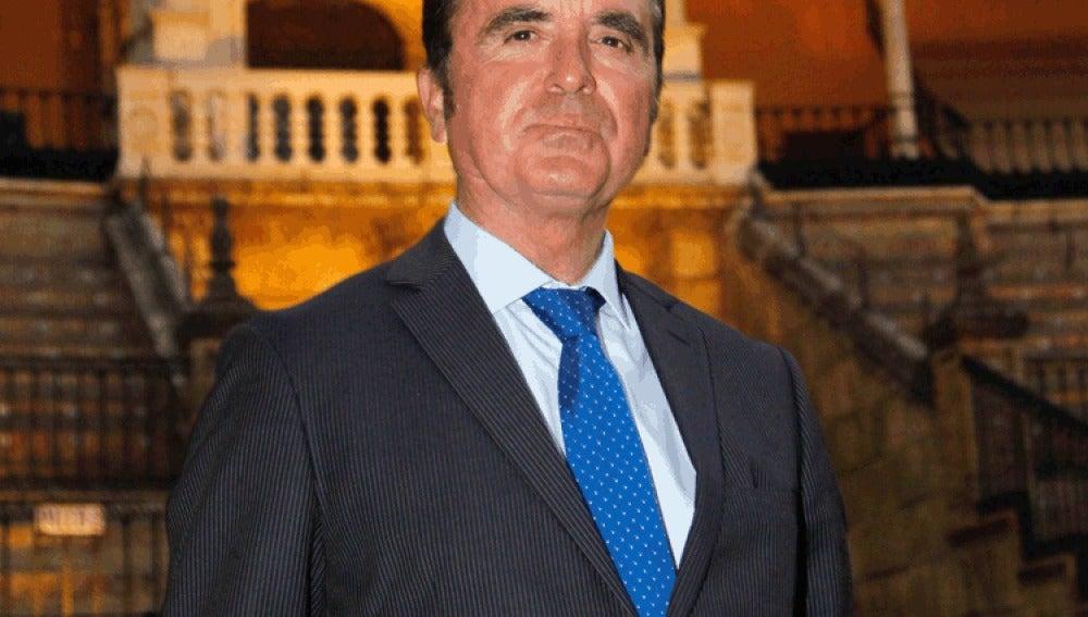 El torero José Ortega Cano en la Plaza de la Maestranza de Sevilla.